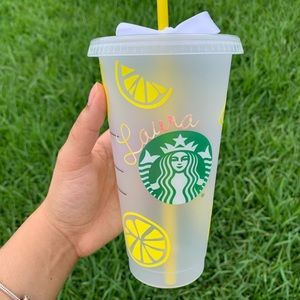Personalized Lemon Starbucks Cup